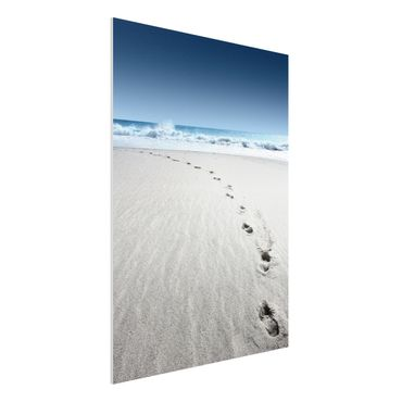 Quadro in forex - Footprints in the sand - Verticale 3:4