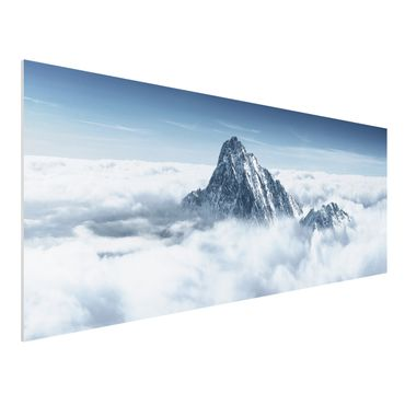 Quadro in forex - The Alps Above the Clouds - Panoramico