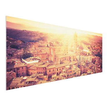 Quadro in forex - Fiery Siena - Panoramico