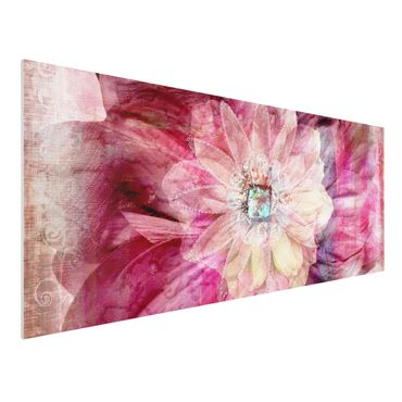 Quadro in forex - Grunge Flower - Panoramico