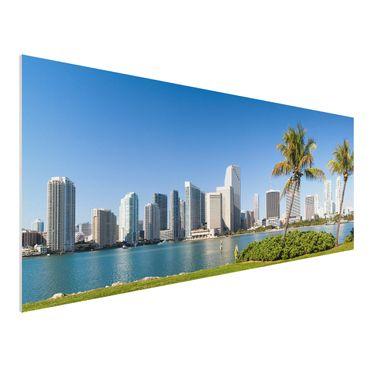 Quadro in forex - Miami Beach Skyline - Panoramico