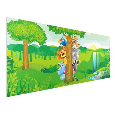 Quadro in forex - No.BF1 Jungle animals - Panoramico