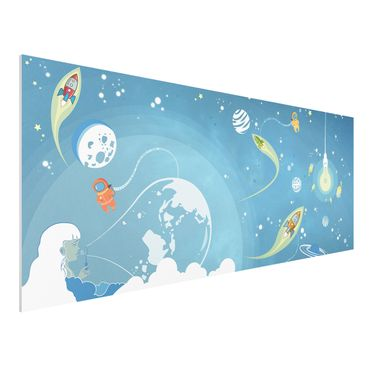 Quadro in forex - No.MW16 Colorful Space bustle - Panoramico