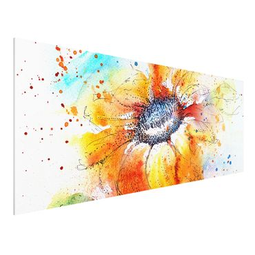 Quadro in forex - Painted Sunflower - Panoramico