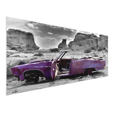 Quadro in forex - Pink Cadillac - Panoramico