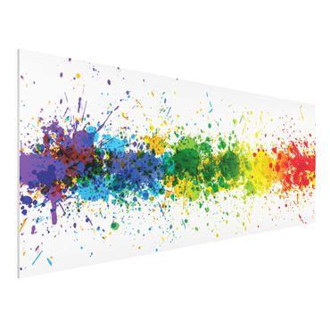 Quadro in forex - Rainbow Splatter - Panoramico