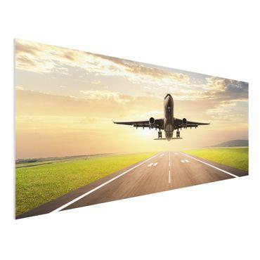 Quadro in forex - Starting Airplane - Panoramico
