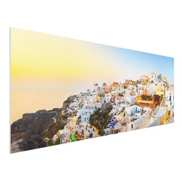 Quadro in forex - Shining Santorini - Panoramico