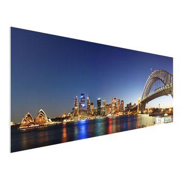 Quadro in forex - Sydney at Night - Panoramico