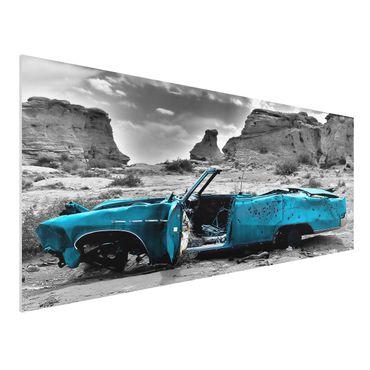 Quadro in forex - Turqouise Cadillac - Panoramico