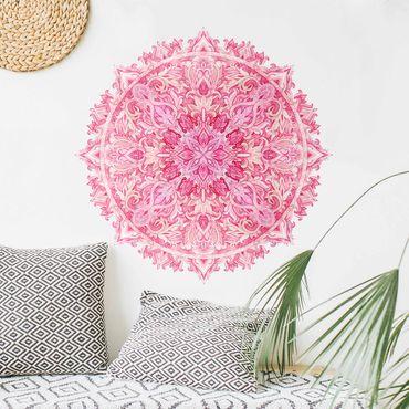 Adesivo murale - Painted Mandala mano dell'acqua Colore Rosa