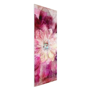 Quadro in forex - Grunge Flower - Pannnello