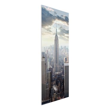 Quadro in forex - Sunrise In New York - Pannnello