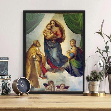 Poster con cornice - Raffael - The Sistine Madonna - Verticale 4:3
