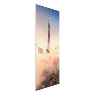 Quadro in forex - Heavenly skyline di Dubai - Pannello