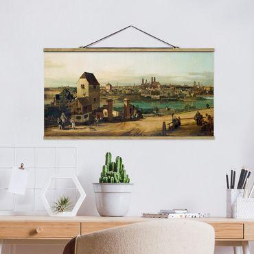 Foto su tessuto da parete con bastone - Bernardo Bellotto - Monaco di Baviera - Orizzontale 1:2