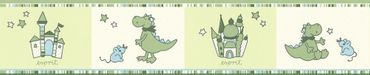 Carta da parati - Esprit Esprit Kids 5 Dragon Castle in Blu Crema Verde