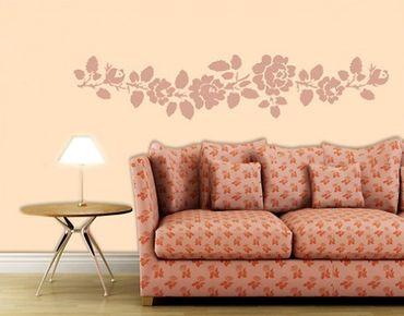 Adesivo murale no.BR187 rose tendril