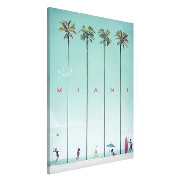 Lavagna magnetica - Poster viaggio - Miami - Formato verticale 2:3