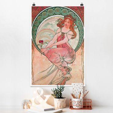 Poster - Alfons Mucha - Quattro arti - Pittura - Verticale 3:2