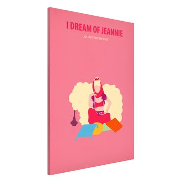 Lavagna magnetica - Locandina cinematografica I Dream Of Jeannie - Formato verticale 2:3
