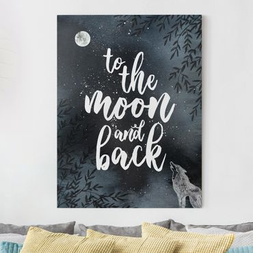 Stampa su tela - Love You To The Moon And Back - Verticale 3:4