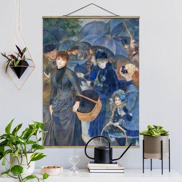 Foto su tessuto da parete con bastone - Auguste Renoir - The Umbrellas - Verticale 4:3