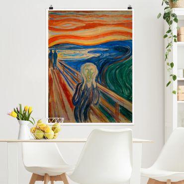 Poster - Edvard Munch - L'urlo - Verticale 4:3