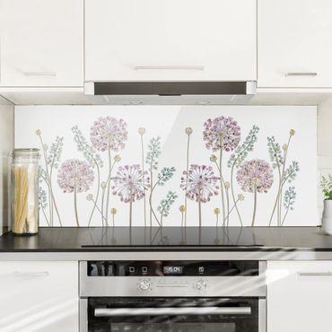 Paraschizzi in vetro - Allium Illustration - Panoramico