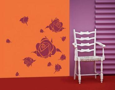 Adesivo murale no.UL195 Rose Greetings