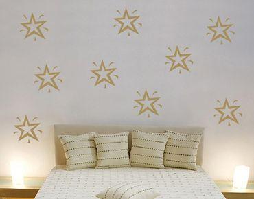 Adesivo murale no.SF117 nine stars