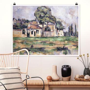 Poster - Paul Cézanne - rive della Marna - Orizzontale 3:4