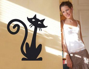 Adesivo murale no.SF163 funny cat