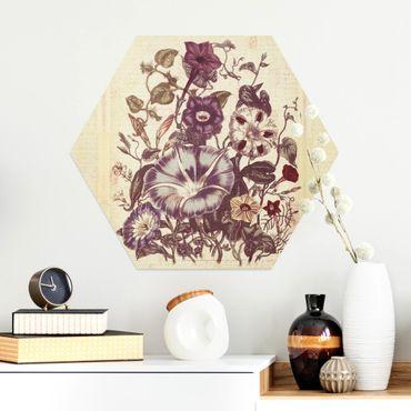 Esagono in Alu-dibond - Bouquet di memoria Vintage