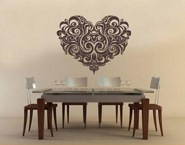 Adesivo murale no.330 ornament heart