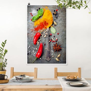 Poster - Cucchiai con spezie - Verticale 3:2