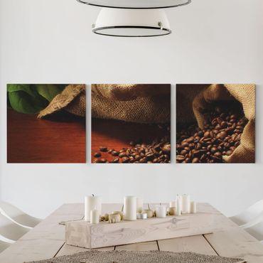 Stampa su tela 3 parti - Dulcet Coffee - Quadrato 1:1