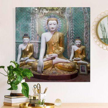 Stampa su tela - Statue di Buddha