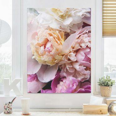 Quadro in vetro - Blooming Peony - Verticale 4:3