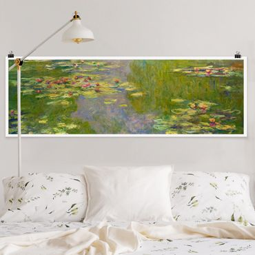 Poster - Claude Monet - Verde Ninfee - Panorama formato orizzontale