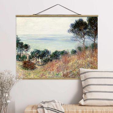 Foto su tessuto da parete con bastone - Claude Monet - Costa Varengeville - Orizzontale 3:4