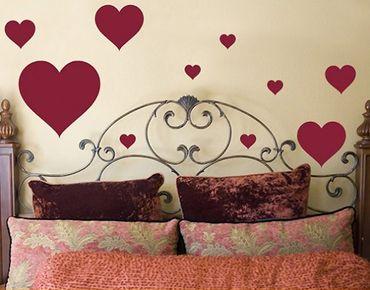 Adesivo murale no.63 Ten Hearts