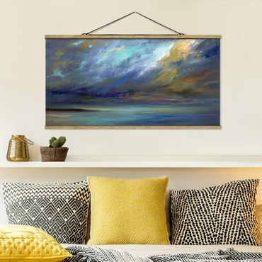 Foto su tessuto da parete con bastone - Cielo Sopra Costa - Orizzontale 1:2