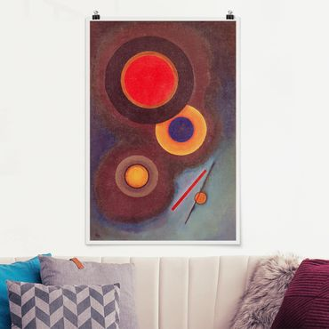 Poster - Wassily Kandinsky - cerchi e linee - Verticale 3:2