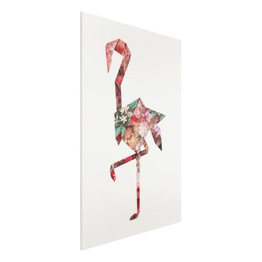 Stampa su Forex - origami Flamingo - Verticale 3:2