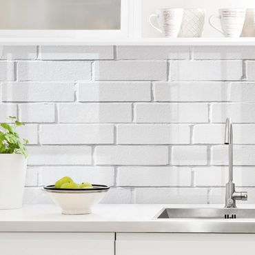 Rivestimento cucina - Muro in pietre bianche