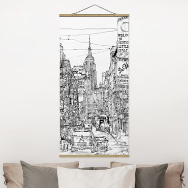 Foto su tessuto da parete con bastone - Città Studi - Piccola Italia - Verticale 2:1