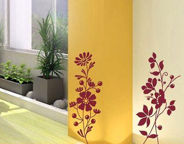 Adesivo murale no.130 flower duo