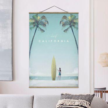 Foto su tessuto da parete con bastone - Poster di viaggio - California - Verticale 3:2