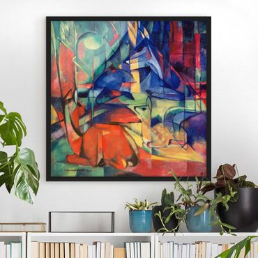 Poster con cornice - Franz Marc - Deer In The Forest - Quadrato 1:1